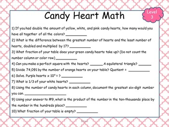 Valentine's Day Reading and Math Activities {NO PREP!} - Grades 2-5