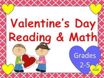 Valentine's Day Reading and Math Activities {NO PREP!} - G