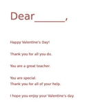 Valentine's Day Thank You Note Template