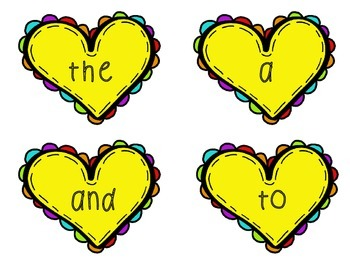 Sight Words: Valentine's Day Thematic Sight Word Cards
