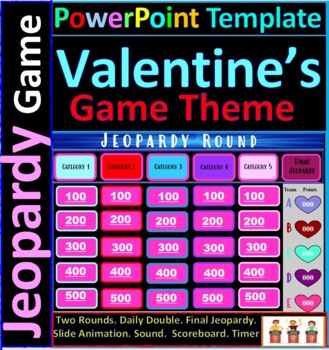 Valentines day theme interactive jeopardy template with timer valentines day theme interactive jeopardy template with timer scoreboard pronofoot35fo Image collections