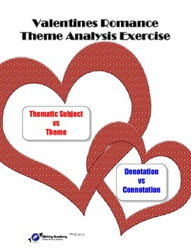 Valentine's Day Theme Lesson: Denotation Connotation Acrostic Poem