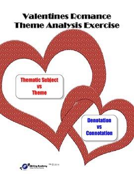 Valentine's Day Theme Lesson: Denotation Connotation Acros