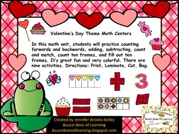 Valentine's Day Theme Math Centers