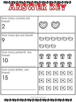 """Valentines Day Themed 1-20 """"How many?"""""""
