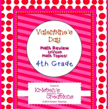 Valentine's Day Themed 4th Grade enVision Math Questions 30 task cards