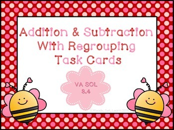 Valentine's Day Themed Addition and Subtraction with Regro