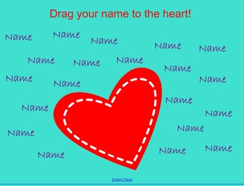 Valentines Day Themed Attendance Smartboard files