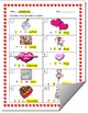 Valentine's Day-Themed Beginning Sound Identification Worksheet