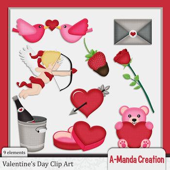 Valentine's Day Themed Clip Art