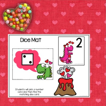 Valentines Day Themed Count the dice