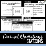 Decimal Operations : Middle School Math Stations