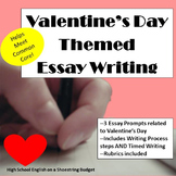 Valentine's Day Themed Essay Writing, w Rubrics & Printables