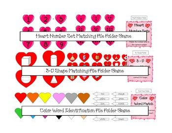 Valentines Day Themed File Folder Games