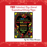 Valentine's Day Themed Inspirational Coloring Pages