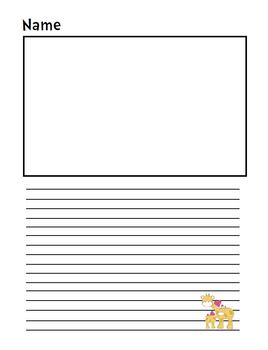 Valentine's Day Themed Lined Writing Paper