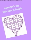 Valentine's Day Themed Main Idea and Details Graphic Organizer