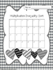 Valentine's Day Themed Multiplication Inequality Task Cards