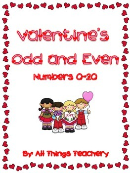 Valentine's Day Themed Odd-Even Numbers 0-20