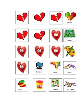 Valentine's Day Themed Token / Board Token / Chart Behavior Management
