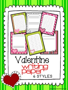 Valentine's Day Themed Writing Paper
