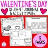 Valentine's Day Student Journal | Activity Think Book