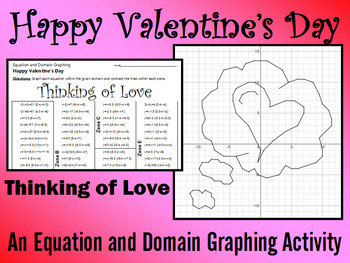 Valentine's Day - Thinking of Love - A Linear Equation Graphing Activity