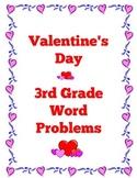 Valentine's Day Third Grade Word Problem Cards