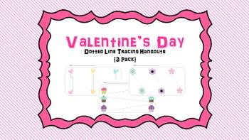 Valentine's Day Tracing Worksheet (6 Pack) -Fine Motor - H