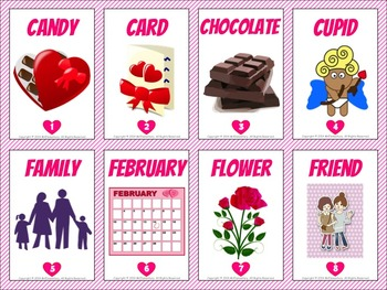 Valentine's Day Vocabulary Trading Cards