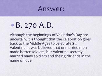 Valentine's Day Trivia Game