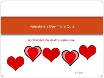 Valentine's Day Trivia Quiz