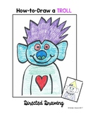 Valentine's Day Cute Troll Directed Drawing