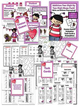St Valentine's Day Two Digit By Two Digit Addition Mega Pack