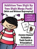 Valentine's Day Math Centers & Task Cards Two-Digit By Two
