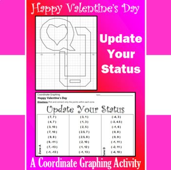 Valentine's Day - Update Your Status - A Coordinate Graphing Activity
