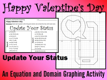 Valentine's Day - Update Your Status - A Linear Equation Graphing Activity