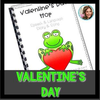 Valentine's Day Speech Therapy | Valentine's Day Activities | #slpvalentinehop