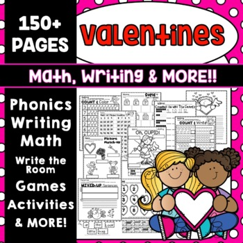 VALENTINE'S DAY MATH  VALENTINE'S DAY WRITING