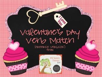 Valentine's Day Verb Match (FREEBIE VERSION)
