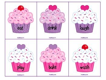 Valentine's Day Verbalicious Cupcake Fun