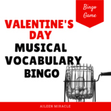 Musical Vocabulary: Valentine's Day Bingo Set