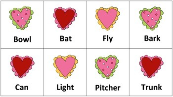 Valentine's Day-Vocabulary Building (Idioms, Multiple Meanings, Synonyms)