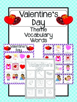 Valentine's Day Vocabulary Cards