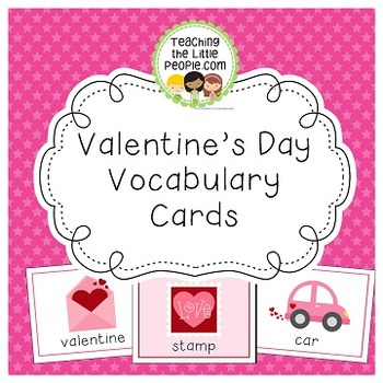 Valentine's Day Vocabulary Cards for Preschool and Kindergarten