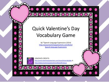 Valentine's Day Vocabulary Game