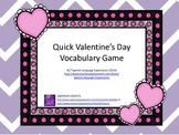 Valentine's Day Vocabulary Game