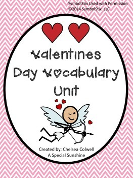 Valentine's Day Vocabulary Unit for Special Education