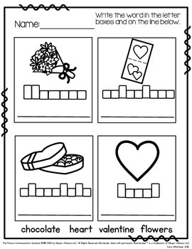 Valentine's Day Vocabulary Unit & Activities (Autism & Special Education)