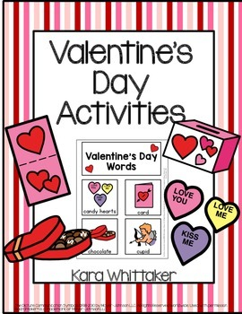 Valentine's Day Vocabulary Unit & Activities (Autism & Spe